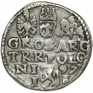 Sigismund III Vasa, 3 Groschen Lublin 1597 - RARE