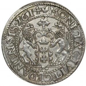 Sigismund III Vasa, 1/4 Thaler Danzig 1614 - RARE
