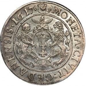 Sigismund III Vasa, 1/4 Thaler Danzig 1617 - PRVS:+