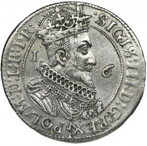 Sigismund III Vasa, 1/4 Thaler Danzig 1623 - PR• - RARE