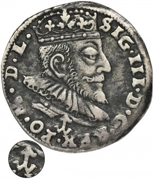 Sigismund III Vasa, 3 Groschen Vilnius 1590 - VERY RARE