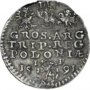 Zygmunt III Waza, Trojak Olkusz 1591