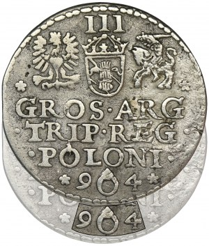 Sigismund III Vasa, 3 Groschen Marienburg 1594 - RARE