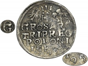 Sigismund III Vasa, 3 Groschen Lublin 1595 - UNLISTED