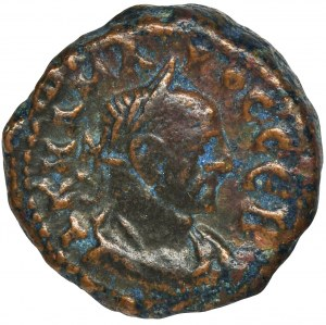 Rzym Prowincjonalny, Egipt, Aleksandria, Karus, Tetradrachma bilonowa