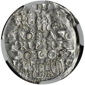 Sigismund III Vasa, 3 Groschen Bromberg 1597 - NGC MS63