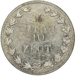 1 1/2 rubel = 10 zloty Warsaw 1837 MW