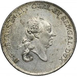 Księstwo Kurlandii, Piotr Biron, Talar Mitawa 1780