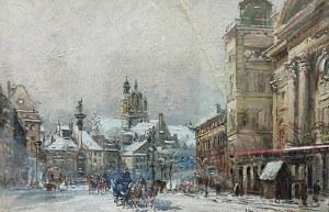 Władysław CHMIELIŃSKI (1911-1979), Widok na Plac Zamkowy, lata 30. XX w.