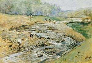 Julian FAŁAT (1853-1929), Nad rzeką w Bystrej