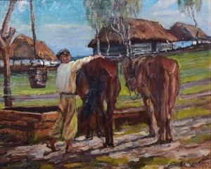Jan KOTOWSKI (1885-1960), U wodopoju, 1922