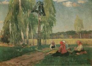 Józef GRACZYŃSKI (1866-1939), Pod przydrożną kapliczką