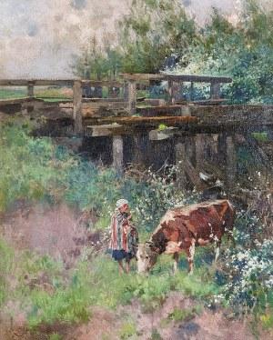 Zdzisław JASIŃSKI (1863-1932), Pasterka, 1926
