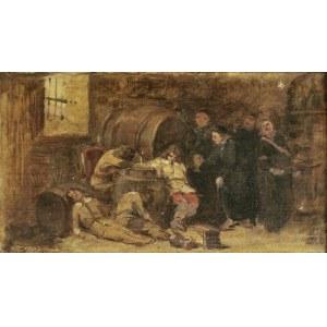 Kazimierz POCHWALSKI (1855-1940), Po nadmiernej degustacji wina, lata 90. XIX w.
