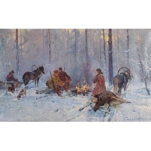 Franciszek ZYGMUNTOWICZ (1875-1947?), Po polowaniu