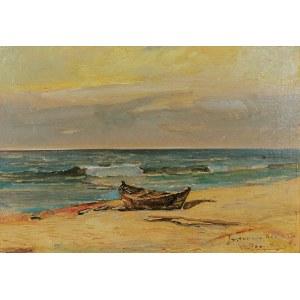 Wacław DAWIDOWSKI (1882-1962), Łódź na plaży w Jastarni, 1935