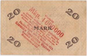 Hoymgrube (Rybnik Niewiadom), 20 mk PRZEDRUK na 1 mln mkp 1921/23
