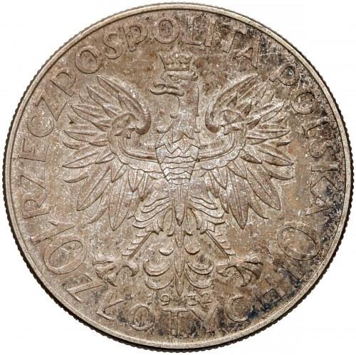 Głowa Kobiety 10 złotych 1932 zn, Warszawa