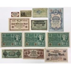Zestaw banknotów MIX - Niemcy, Austria, Rosja... (12szt)