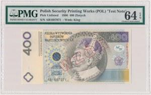 PWPW 400 złotych 1996 - WZÓR na awersie