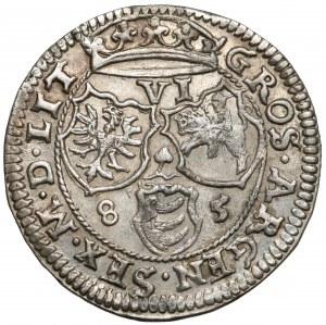 Stefan Batory, Szóstak Wilno 1585 - rzadki i PIĘKNY