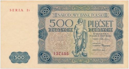 500 złotych 1947 - I3