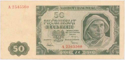 50 złotych 1948 - 7 cyfr - A