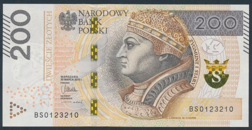 200 złotych 2015 - BS 0123210
