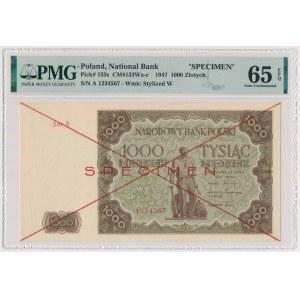 1.000 złotych 1947 - SPECIMEN - Ser.A