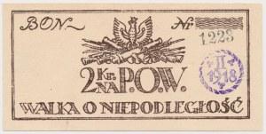 P.O.W., Walka o Niepodległość - Bon na 2 korony 1918