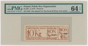 Fundusz Pracy i Czynu, Bon na 10 koron