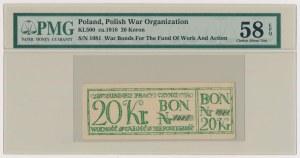 Fundusz Pracy i Czynu, Bon na 20 koron