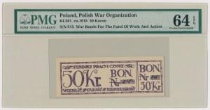 Fundusz Pracy i Czynu, Bon na 50 koron
