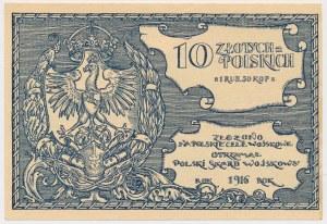 Polski Skarb Wojskowy, 10 złotych = 1 rubel 50 kopiejek 1916