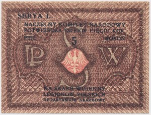 Naczelny Komitet Narodowy na Skarb Wojenny Legionów Polskich, 5 koron