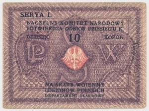 Naczelny Komitet Narodowy na Skarb Wojenny Legionów Polskich, 10 koron