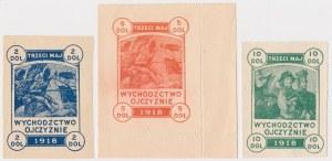 Wychodźctwo Ojczyźnie - 3 Maj 1918 - Cegiełki 2, 5 i 10 dolarów (3)