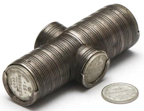 Rosja, Portfel na kopiejki carskiej Rosji (srebro)