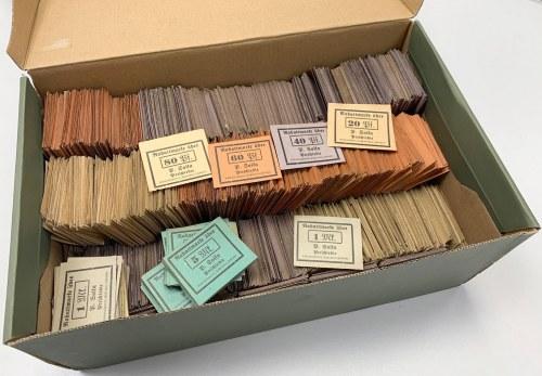 Preschlebie (Przezchlebie), 20 pfg - 1 mk i 5 mk (~2.000+ szt) - w pudełku