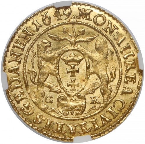 Jan II Kazimierz, Dukat Gdańsk 1649 GR - PIĘKNY