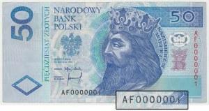 50 złotych 1994 - AF 0000001