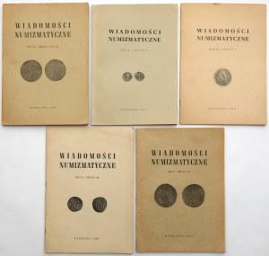 Wiadomości numizmatyczne (5szt)