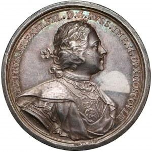 Rosja, Piotr I, Medal 1710 - Zdobycie Elbląga - SREBRO