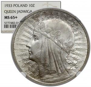 Głowa Kobiety 10 złotych 1933 - OKAZOWE
