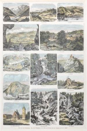 KARKONOSZE. Widoki Karkonoszy w 13 sekcjach: 1) Dolina Upy – Im Aupagrund; 2