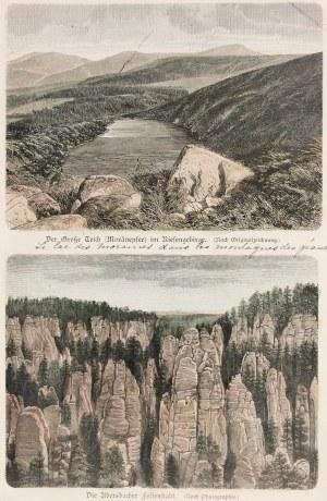 KARKONOSZE. Wielki Staw i skały w Adršpach – 2 widoki na wspólnym arkuszu