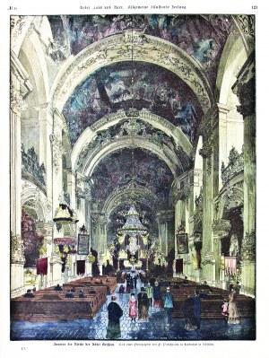 KRZESZÓW. Wnętrze kościoła klasztornego; według fot. Fr. Pietschmanna, ryt