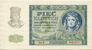 5 złotych 1940 seria B
