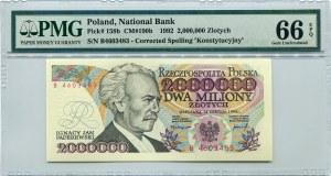 2.000.000 złotych 1992 seria B, PMG 66 EPQ
