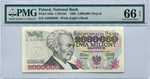 2.000.000 złotych 1993 seria A, PMG 66 EPQ